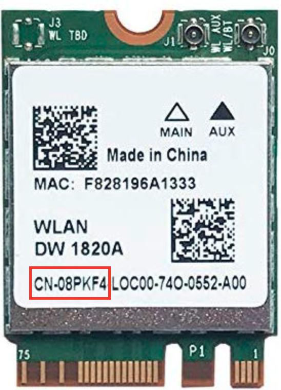 """请确保您获得了""""CN-08PKF4""""型号"""